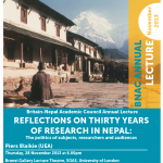 Announcement: Annual Lecture 2013 (by Piers Blaike, on 28 Nov. 2013)