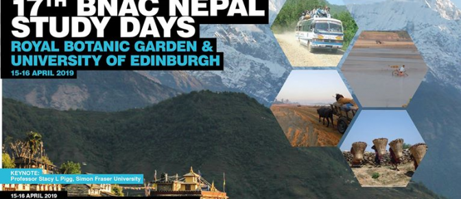 BNAC 17th Nepal Study Days (Nepal Conference) Edinburgh