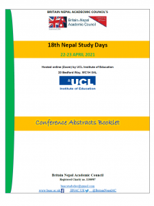 18th Nepal Study Days 22-23 Apr 2021 Conference Abstracts Booklet